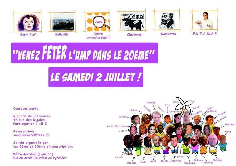 Invitation fête du 2 juillet 2011